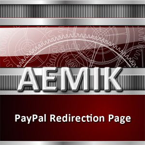 Paypal redirection page